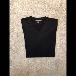 Michael Kors • Black Men's V-Neck Shirt